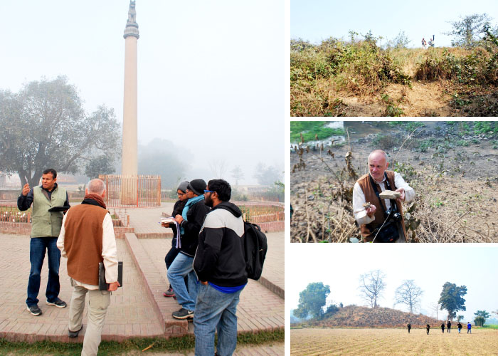 Field visit to Lauriya Nandangarh and Kesariya in Champaran