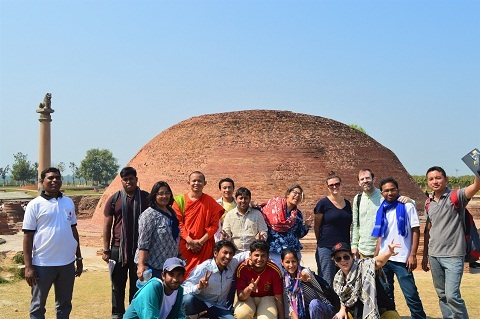 Students along with Faculty during the field trip