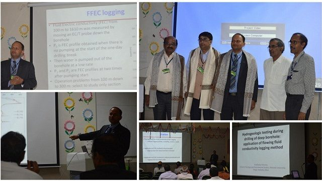 Dr. Prabhakar Sharma delivers a talk at a symposium organised by Federation of Indian Geosciences Associations at IIT, Dhanbad